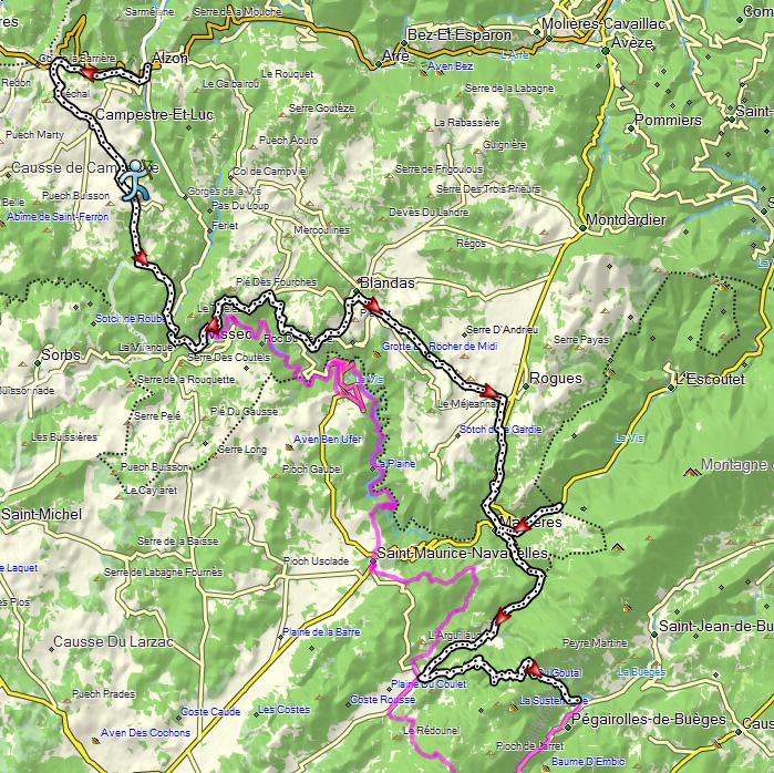 carte-3eme-etape-raid-minercor-2015