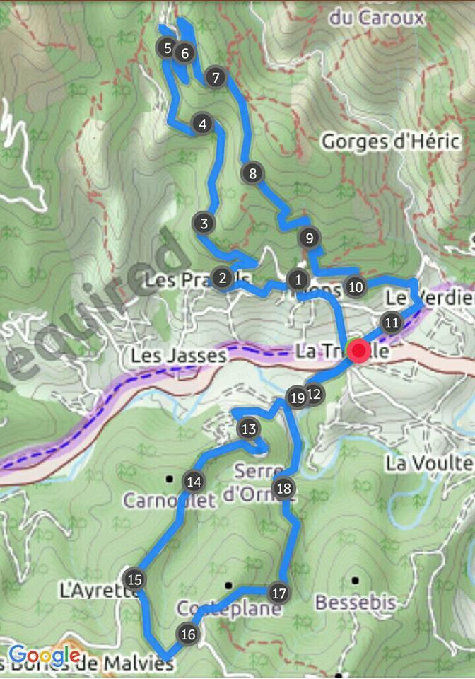 Traces GPS Sortie Enduro - VTT Capestang