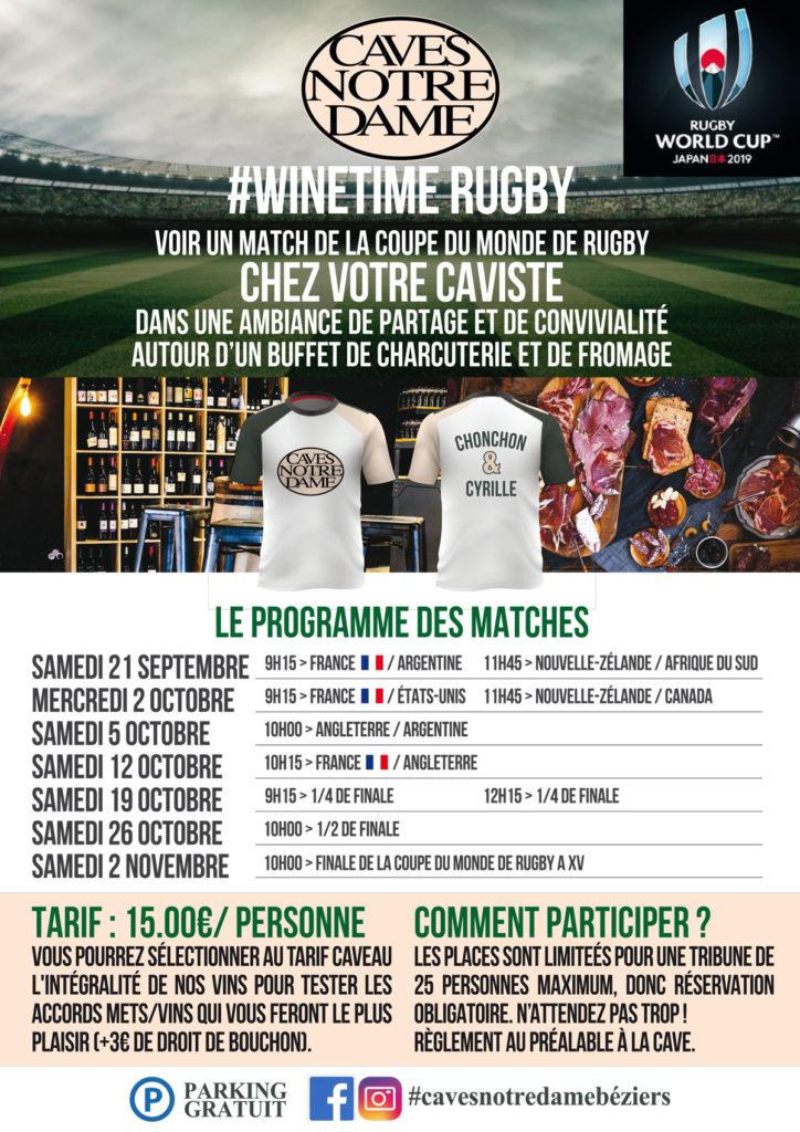 Voir un match de rugby à Béziers chez son Caviste